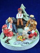"Sebastian Miniatures sculpture ""America Remembers Family Picnic"" 1981 made Usa"