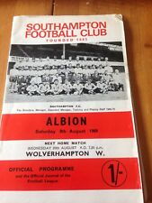 SOUTHAMPTON V WEST BROMWICH ALBION - DIV 1 - 9/8/1969