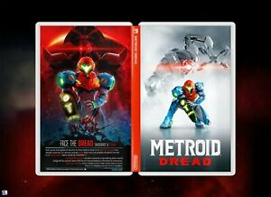 Metroid Dread Cover Art: Special Edition Style Insert & Case for Nintendo Switch
