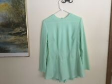 Custom made. Adult/teen classic, light green skating dress.  Large.  New!