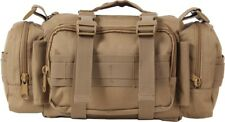 Coyote Brown MOLLE Military Shoulder Bag Convertible Tactical Butt Waist Pack