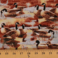 Duck, Duck, Goose! Canada Canadian Geese Ducks Birds Cotton Fabric BTY D465.09