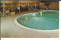 CG-484 CA, Hollywood, Hollywood Inn, Hotel Motel Chrome Postcard Swimming Pool