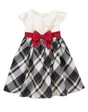 NWT Gymboree Very Merry Plaid CHRISTMAS HOLIDAY Bow Dress Black & White 4T