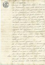 Carteggio Manoscritto 1845 Realizzazione Strada Olmo Fiesole Baccano Faentina