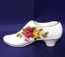 """Vintage Ashleydale (England) China Shoe About 3"""" Old Country Rose Style. Superb"""
