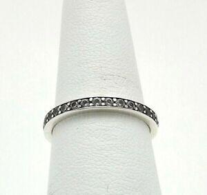 Sterling Silver DQ Diamonique Eternity Wedding Band Ring sz7