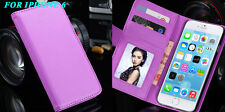 """Screen Film/ PU Leather Wallet Case For iphone 6 6s 4.7"""" 6s Plus iPhone 7 7 Plus"""