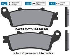 174.2023/B PASTIGLIE FRENO SINTERED POLINI HONDA FORESIGHT 250 98 - JAZZ 250