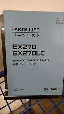 Hitachi EX270  Excavator Crawler Spare Parts List Book Catalog Manual