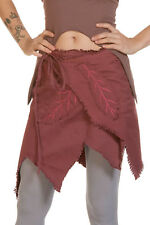 Pixie Skirt, Festival Clothing, Psy Trance Fairy Cosplay Elven Wrap Leaf Skirt