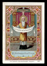 antico santino cromo-holy card S.ANDREA AVELLINO  poellath