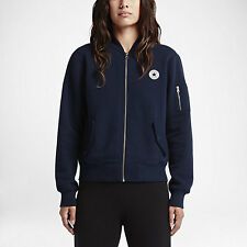 NEW Women's Converse MA-1 Fleece Bomber Jacket Size: X-Small Color: Blue