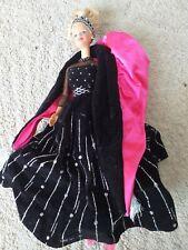 Muñeca Barbie Felices Fiestas 1998, edición especial, especial Navidad Rosa Negro