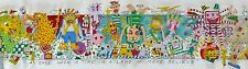 James Rizzi ONCE UPON A TIME IN THE LAND OF MAKE BELIEVE 3-D Pop Art Hand signed