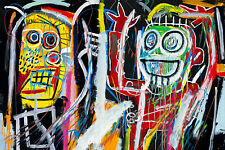 Jean Michel Basquiat Dustheads Modern Abstract Canvas Fine Art 20 x 30 Inch A1