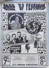 VERY RARE 1967 Jazz Festival Poster UC Berkeley: Miles Davis, Bill Evans, more
