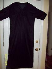 """Black CAFTAN LOUNGE DRESS * NYLON TRICOT Men & Women 50"""" Chest * 60"""" Length * XL"""