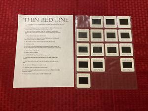 The Thin Red Line Press Photo Slides (15) 1998 Caviezel Nolte Harrelson Cusack