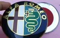 Gold 2x 74mm Front Rear Emblem Badge Gold ROMEO GT Giulietta Mito 159 156 Covers