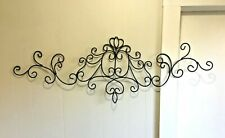 "Scroll Metal Wall Art Decor Large 44'' L x 15"" H Hand-forged Sculpture"