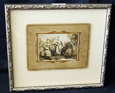 """1900 Chinese Framed B&W Photo """"Three Brothers in Robes"""" by unmarked (Mil)"""