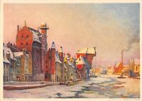 BG37710 th urlnowsky krahntor in danzig gdansk poland painting postcard