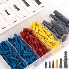 440pc Small - Large 20mm-60mm Wall Plug Set Rawl Plugs Raw Plastic Expansion