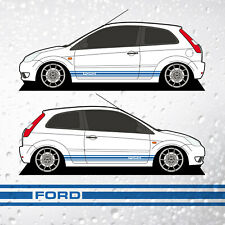 Fiesta Mk6 Side Stripes - Classic FORD GT Style Decals Vinyl Graphics 3dr & 5dr