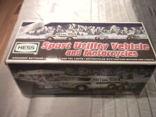 2004 Hess Sport Utility Vehicle and Motorcycles 40th Year TOY TRUCK Brand NEW