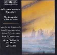 FELIX MENDELSSOHN BARTHOLDY: COMPLETE SOLO CONCERTOS NEW CD