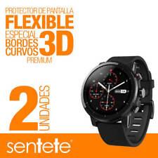 Sentete® 2x Xiaomi Amazfit Stratos Protector de Pantalla Flexible 3D PREMIUM