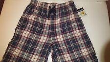 Joe Boxer S Mens Blue Red Maroon Plaid Sleep Pants Flannel New