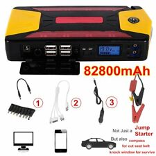 82800mAh Pack Car Jump Starter Emergency Charger Booster Power Bank Battery H#