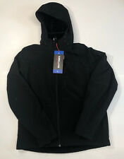 NWT Kirkland Signature Mens Softshell Fleece Lined Hooded Jacket, Size L, Black