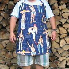 Alexander Henry Construction Worker Unisex Apron BBQ Chef Navy Blue