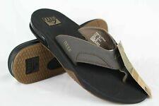 New Reef Men's Fanning Flip Flop Sandals Size 12 Vintage Brown