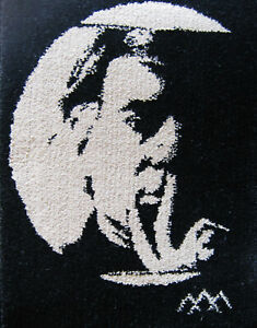 AUTHENTIC ANDY WARHOL SELF-PORTRAIT ART RUG SALESMAN / SHOWROOM SAMPLE BY SPHINX