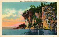Vintage Postcard - Rock Point Lake Champlain Burlington Vermont VT Linen #1775