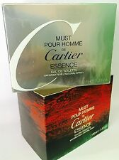 CARTIER MUST POUR HOMME ESSENCE Edt 100ml VINTAGE Sealed PERFUME!