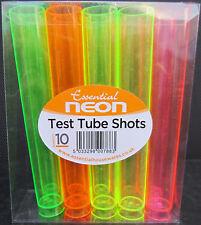 Tutte le occasioni 10 x Neon Multi Colore in plastica festa Provetta Bicchierini di divertimento
