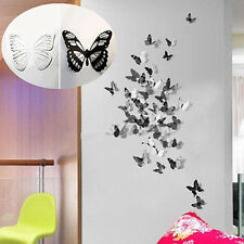18pcs DIY 3D Butterfly Wall Stickers Art Decal PVC Butterfly Home Room Bar Decor