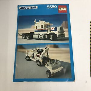 Vintage LEGO 5580 Model Team Highway Big Rig Manual 1986 Very Good Rare HTF Book