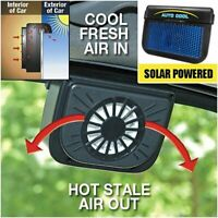 Mini Solar Powered Car Air Vent Cool Exhaust Fan Auto Cooler Ventilation System
