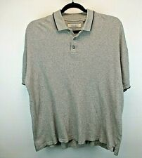 Northern Apparel S/S Men's XXL Heavy Weight Polo Shirt Gray w/Textured Stripe