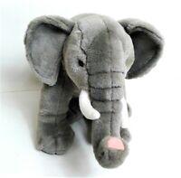 "Posh Paws 12""  Elephant  Soft Toy Plush Comforter Beanie Sitting withTusks"