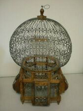 vintage Wood And Wire Victorian Balloon Top Bird Cage