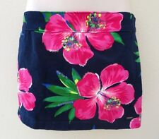 NEW Hollister Womens Floral Mini Skirt Size 00 Navy Blue Fitted Flower Dress