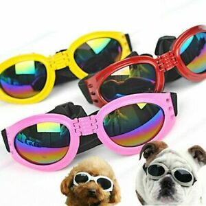 Pet Dog Sunglasses Cat Toys Eye Wear Goggle UV Sun Protection Glasses Adjustable