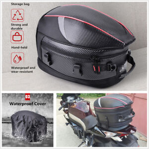 Motorcycle Back Seat Bag Motorbike Scooter Sport Luggage Tail Bag Helmet Bag 21L